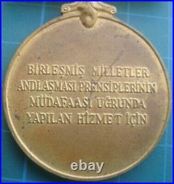 Korean War Un Turkish Medal Medallion Turkey Korea