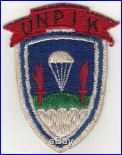 Korean War United Nation Partisan Forces Korea (UNPIK) Patch, 8240th SSI
