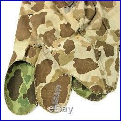 Korean War Us Marine Corps Usmc Frogskin Camouflage M1 Helmet Cover Blue Anchor