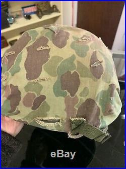 Korean War Usmc Helmet And Camo Helmet Cover