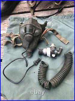 Korean War Vietnam P4 A Jet Pilot Flight Helmet and Type A-17 boots bag O2 Mask