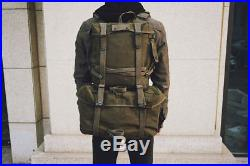 Korean War Vietnam Wwii Us Army M1945 Field Backpack Combat With Belt Military