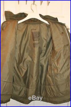 Korean War Vintage Army Large Reg. M-1951Field Jacket, Liner, and fur hood