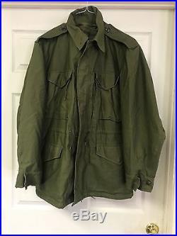 Korean War Vintage Army Officer M-1951 M-51 Field Jacket OG-107 Never Worn WOW