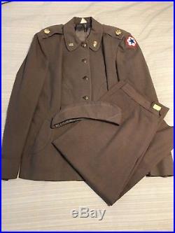 Korean War WAC Womens Army Corps Taupe Uniform