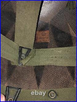Korean War WW2 M1C Paratrooper Airborne helmet liner NAMED