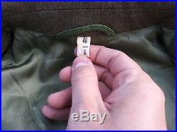 Korean War/WW2 US Army 41st Infantry Sergeant Ike Jacket Size 40R