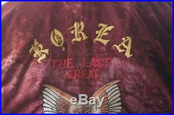 Korean War WWII Vet Flight Souvenir Jacket with Embroidered Eagle and Mouse