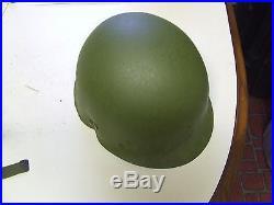 Korean War battle worn M1C Airborne paratrooper helmet vet find 1951