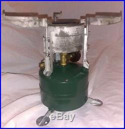 Korean War era 1951 Coleman M-1950 Gas Cooking Stove Case & Wrench