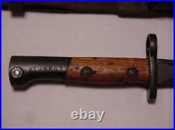 Korean War era Belgium made SAFN-49 bayonet