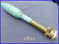 Korean War era Inert Practice Dummy US 90mm Bazooka Rocket Trench Art 1952