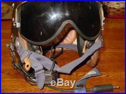Korean war U. S. Navy flight helmet made by General Textile Mills