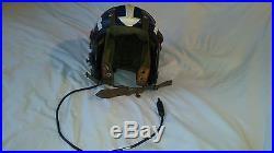Korean war US Navy H-3 flight helmet with liner and avionics