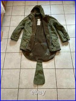 LARGE Korean War British Parka Middle1952 Earlier First version with hood attach