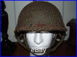 Late WW2/ Korean War US Army M1C Paratrooper Helmet. Original