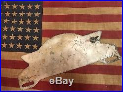 License plate topper reflector buy american ww2 korean war dimestore trench art