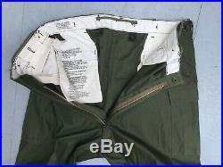 Long X Large Deadstock Trousers Shell Field M-1951 Korean War M-51 Pants Mint