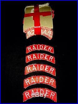 Lot Of 5 UNISSUED US 8245th Army Korean War GHQ 1st Raider Company Tab Patch
