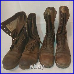 Lot of 2 pairs of SZ 7 1/2 D Korean War Era M1948 Russet Combat Boots