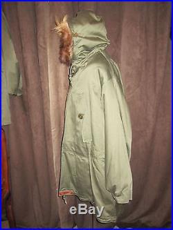 M-1943 Parka Field OD / Korean War / WW2 / NOS / Field Pile Liner