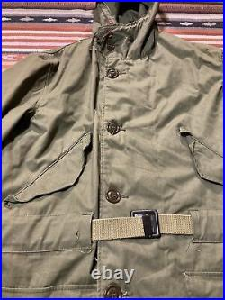 M-1947 Korean War US Parka Dated 1952 Size M Belted Mod Army Military