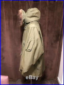 M-1948 Fishtail Parka / M48 Fishtail Parka / Super rare Liner / Korean War / Mod