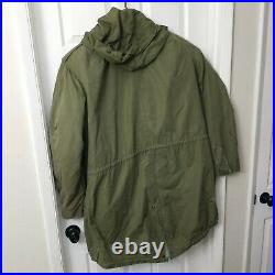M-1951 FISHTAIL PARKA SHELL- US Army Korean War M51 USMC Large with Liner