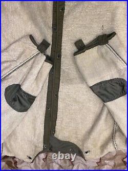 M-1951 FISHTAIL PARKA SHELL w LINER- US Army Korean War M1951 M51 USMC Medium