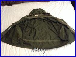M-1951 Korean War Military Army Fishtail Parka Shell XL Medium Size