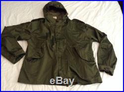 M-1951 Korean War Military Army No Fishtail Parka Shell Medium Size