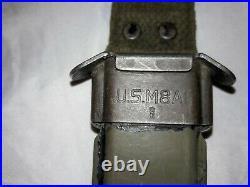 M1 Garand Bayonet & M8A1 Scabbard WW2, Korean War, Vietnam War