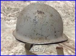 M1 Schlueter Navy Chaplain helmet ww2, Korean War, Vietnam war