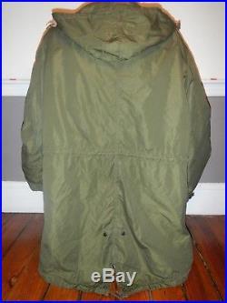M1951 Korean War US Army Fishtail Parka M51 Original Liner 1953 Jacket Sz M Mod