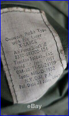 M47 m-1947 aircrew overcoat parka pile lining korean war 1950s cold weather