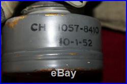 M9A1 Gas Mask U. S. G. I. Korean War Era Collectible with Bag & Anti-Dim Cloth