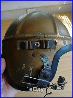 Major Levine Us Navy Jet Pilots Helmet Korean War Era Gentex H Type
