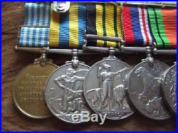 MEDAL GROUP NINE MEDALS. BLACK WATCH REGt. WW. 2 & KENYA, KOREAN WAR & UN MEDAL