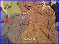 Motherload 22 Vintage Wwi Wwii Korean War Us USA Military Uniforms Jackets