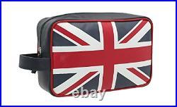 Mala Leather Union Jack Collection Leather Wash Bag 5148 29 Navy