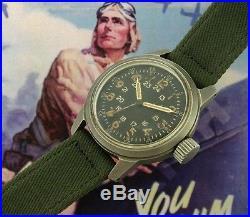 Men's Vintage Antique Korean War Era Elgin A-17A Aviator's Watch SERVICED