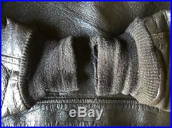 Mens large vintage military brown leather G-1 bomber jacket a2 korean war