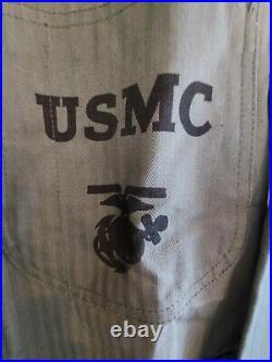 Mint Original USMC Marines HBT P47 Pre Korean War / Blouse / Herring Bone Twill
