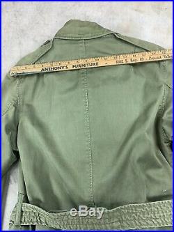 Modified Short M51 Overcoat Vintage Korean War M-1951 Field Jacket Trench Coat