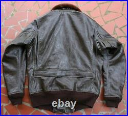 Monarch 7823 (aer) G-1 Korean War Era Usn Repro Leather Flight Jacket New Build