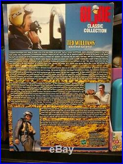 NIB GI Joe Classic Collection Ted Williams Korean War Fighter Pilot 1999 Hasbro