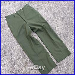 NOS Deadstock Vtg 50's Korean War Wool Military Army Chino Pants Trousers Field
