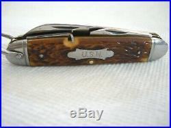 NOS MINT Vintage MILITARY Camillus U. S. N. KOREAN WAR PILOTS Pocket Folding Knife
