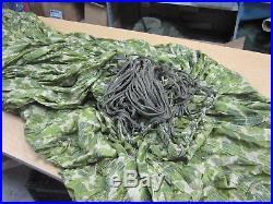 NOS US Military Camouflage Camo 64 ft G12 Cargo Parachute Korean War Era Rare