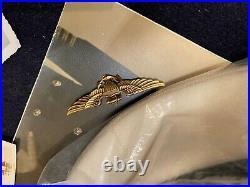 Named 2 WW2 Korean War US Navy Capt Visor cap Hat Pilot wings pictures